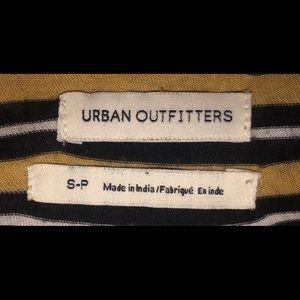 urban outfitters long sleeved striped top